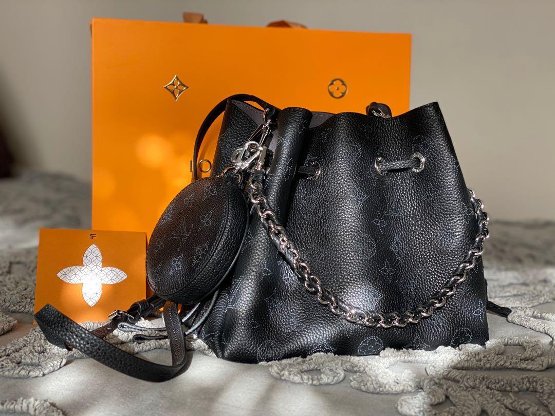 Black Leather LV Bag