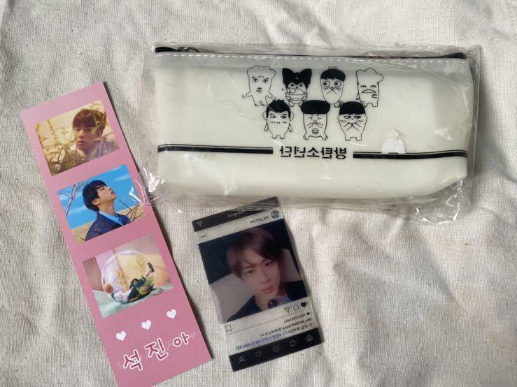 <全新>BTS防彈少年團鉛筆盒+2張金碩珍小卡‼️