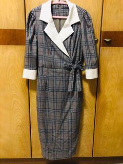 Checkered Dress - Korean brand