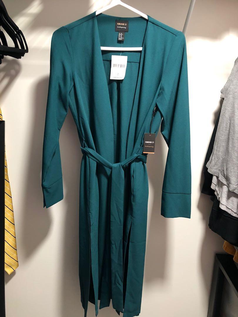 Emerald Green Overcoat (Cardigan Jacket)