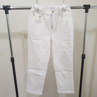 白色直筒褲#Genquo#全新#寬鬆