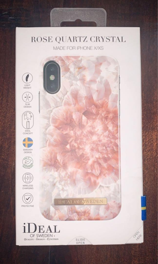 Ideal of Sweden Rose Quartz Crystal case for iPhone X/XS