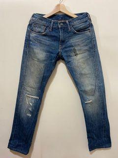 Levi's 511 刀割破壞牛仔褲