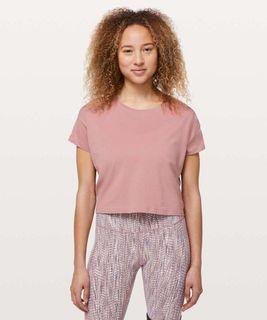 Lululemon Cates Crop Tee Size 8