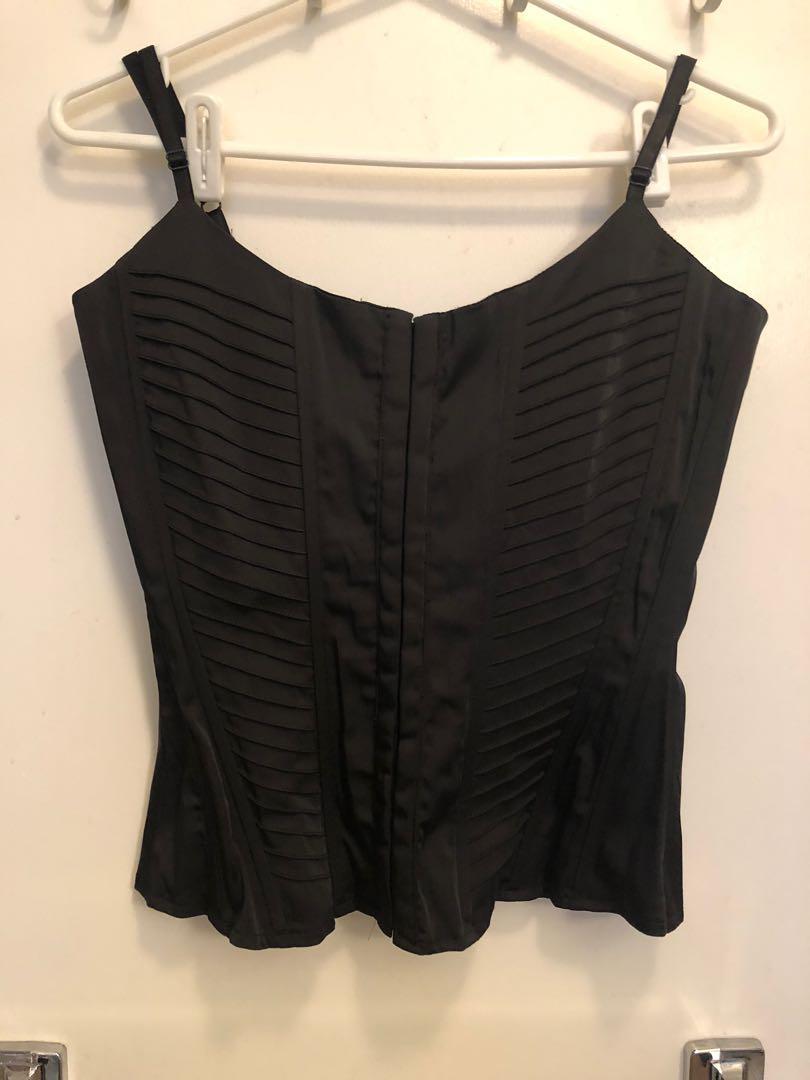 NEW!  Le Chateau black corset size M