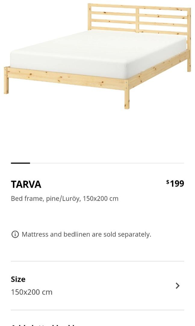 Used Ikea Tarva Queen Bedframe Furniture Beds Mattresses On Carousell