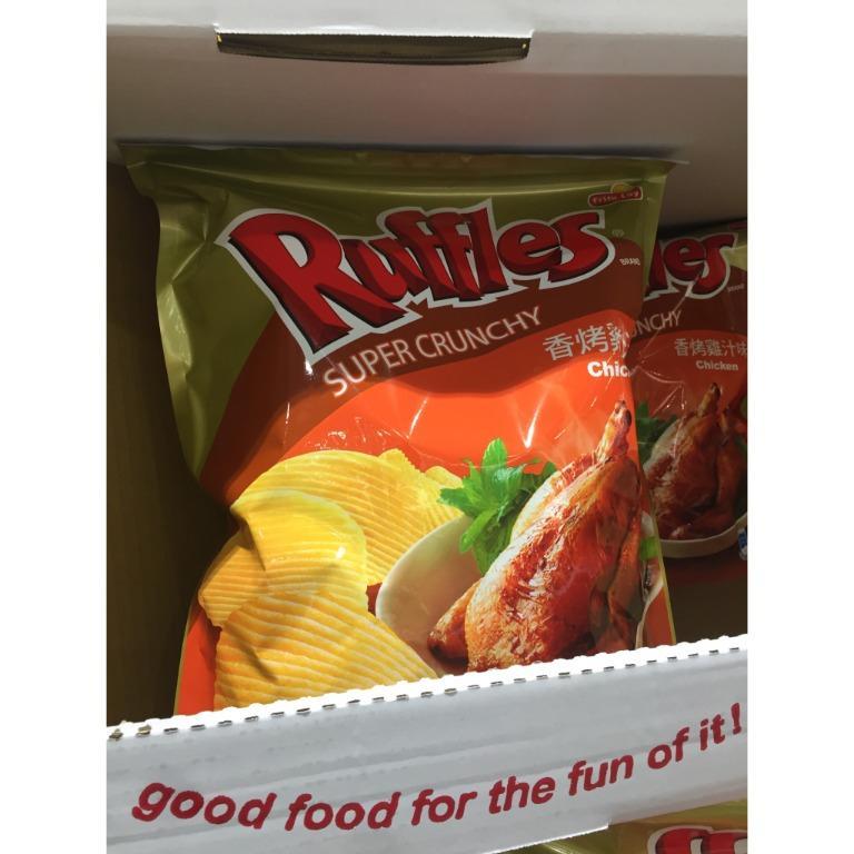 波樂 Ruffles 雞汁口味厚切洋芋片 580公克 好市多代購 Costco