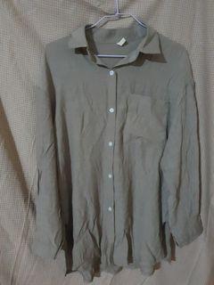 咖綠防曬襯衫