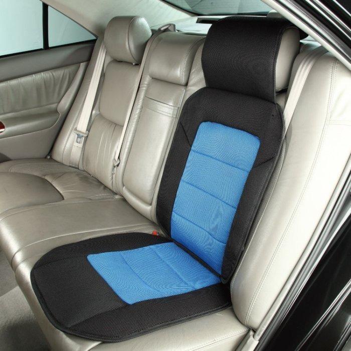 椅套座墊-黑藍色 樂活舒壓車用舒適透氣 前座/後座都可用 1入裝