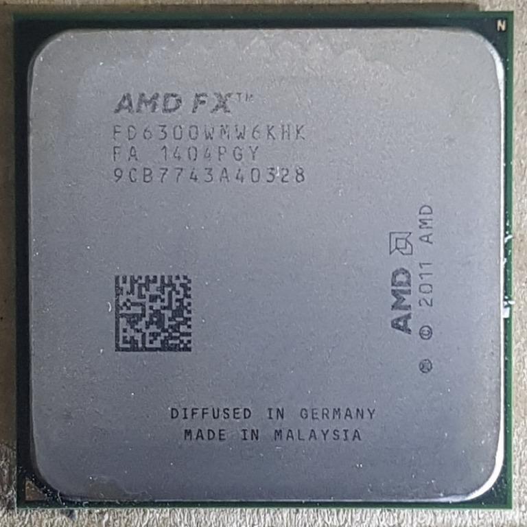 AMD FX-6300 六核心 AM3+ 3.5G 處理器、L3快取-8MB、輕鬆無鎖頻、庫存備品【自取佛心價900】