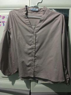 blankawear blouse kemeja coklat