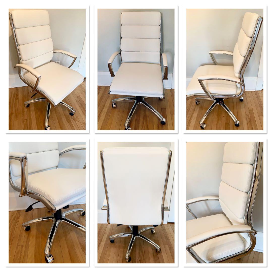 ❤️BRAND NEW steel frame swivel tilt lumbar support office chair
