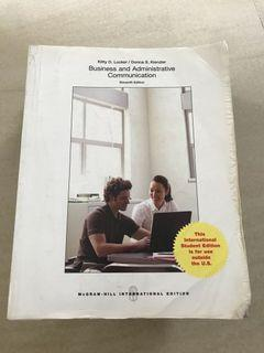 Business and Administrative Communication / McGraw-Hill Eleventh 11th Edition - English