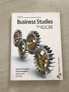Business Studies for IGCSE / Nelson Thornes / Published 2010
