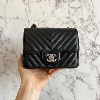 Chanel Bag 17cm mini square 黑色 方胖子 black