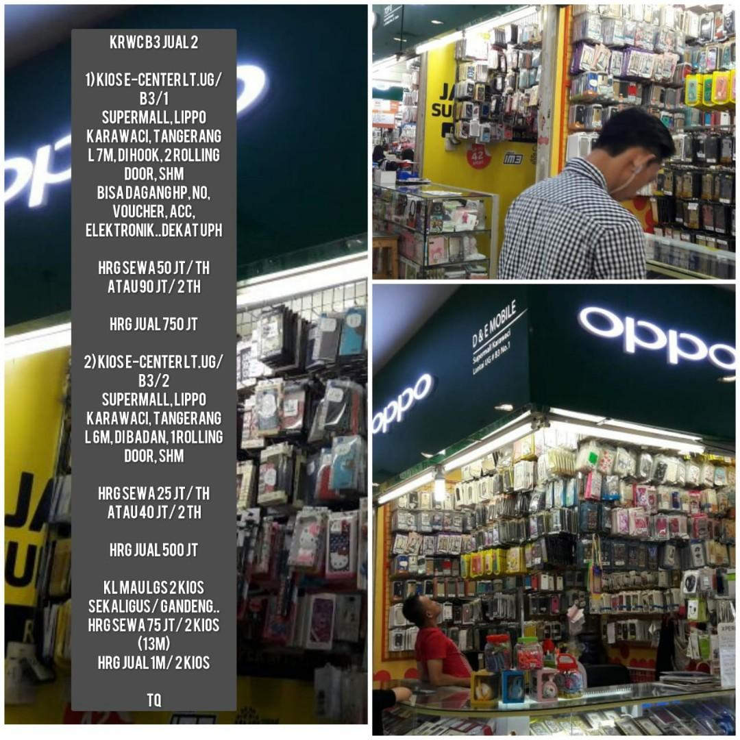 Dijual Kios di Supermall Lippo Karawaci