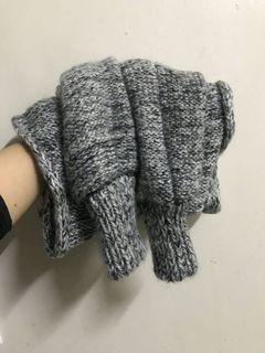 Queen shop 混色 針織 造型 圍巾