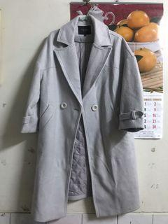 Starmimi 灰 鋪棉 大衣 外套 #年終