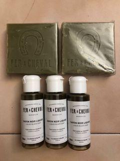 法拉夏馬賽皂橄欖油65g*2+黑皂液30ml*3