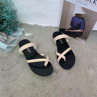 米白色拖鞋  39