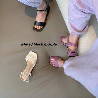 紫色低跟涼鞋 39