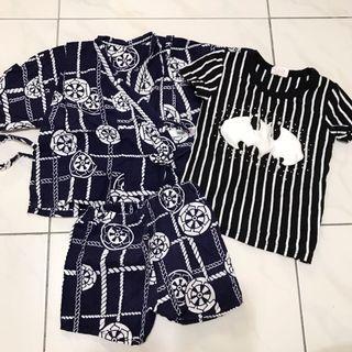 三件組-韓國製、薄棉麻日式套裝