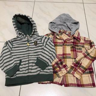 兩件組-Carter's絨毛外套、棉麻外套