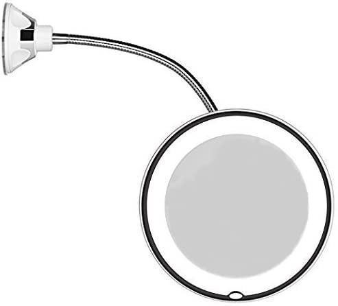 Flexible Mirror Gooseneck Led, Kedsum Flexible Gooseneck 6 8 10x Magnifying Led Lighted Makeup Mirror