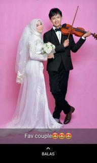 FOR RENT white wedding dress / disewakan gaun nikah putih (Free Make up if you want)