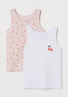 H&M KIDS 2 PACK TANK TOP / SLEEVELESS CHERRY design