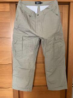 JKS A5S 竹節棉 工裝大口袋 寬直筒工作長褲