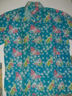 Kemeja Batik biru muda