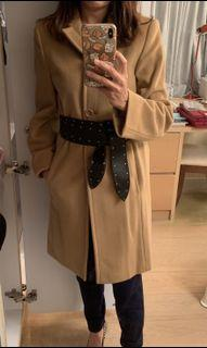 Wool Beige Prisma Coat