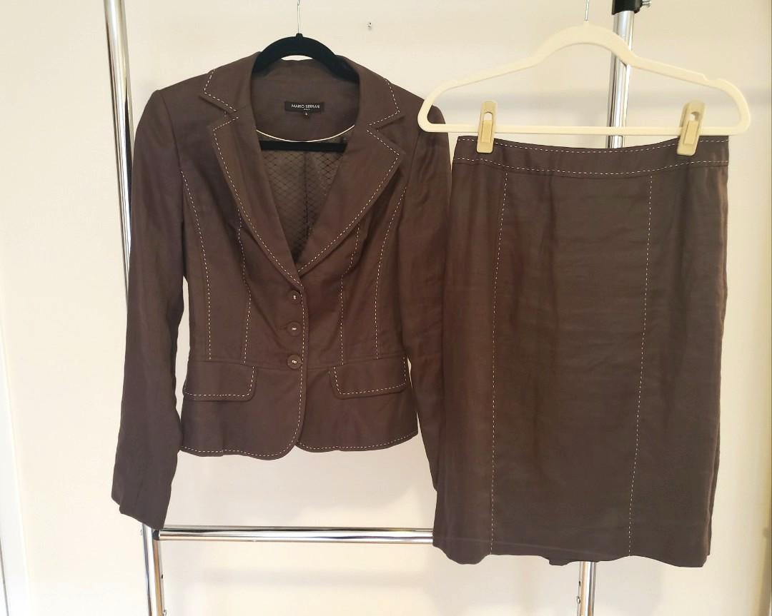 Mario Serrani Linen Brown Set - Size 4