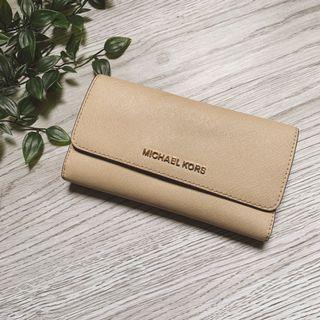 Michael kors杏色長皮夾Genuine wallet