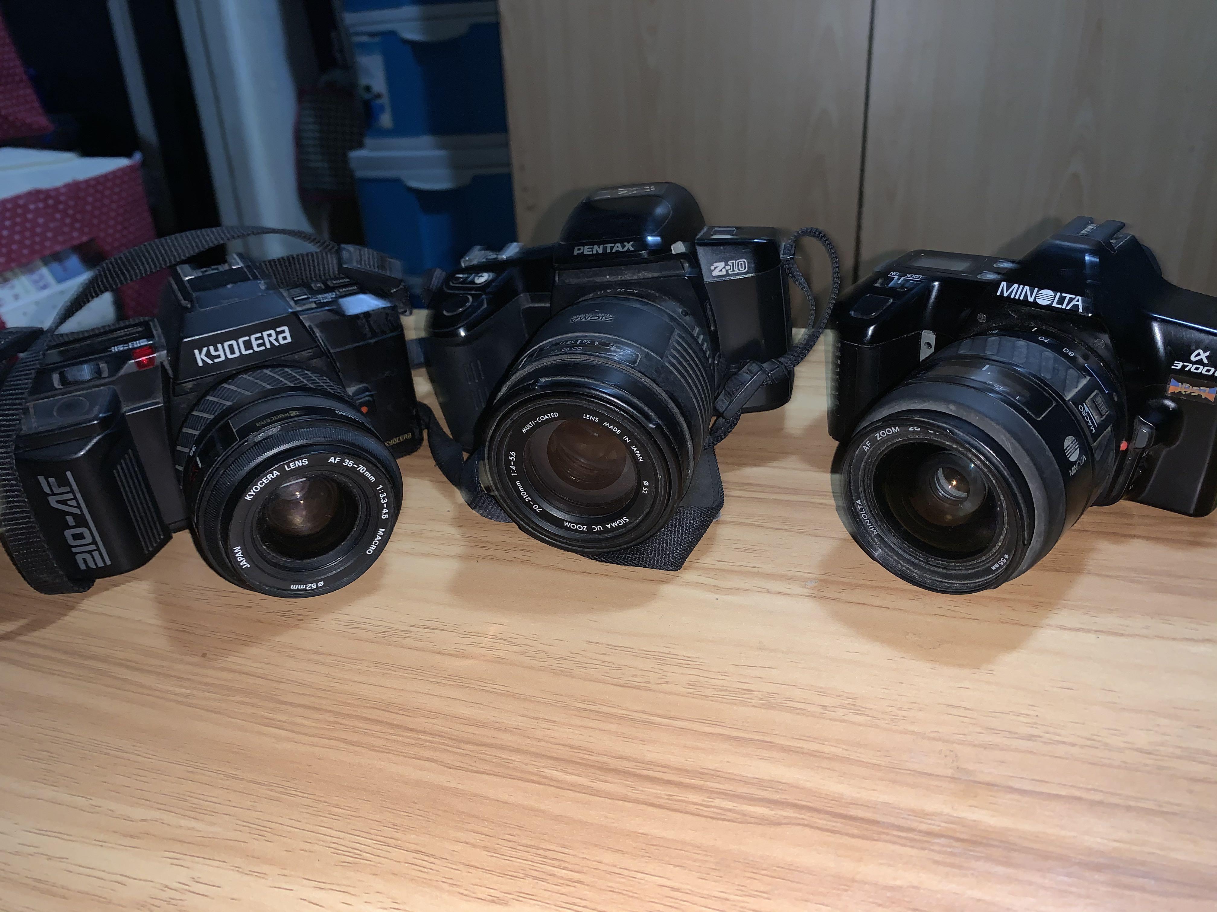 Minolta, Kyocera, Pentax SLR film camera (untested)