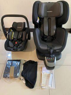 Recaro Zero.1 Elite 「雙層」兒童汽座椅 德國購回  9.9新「「不留了 隨便賣 要的帶走」」