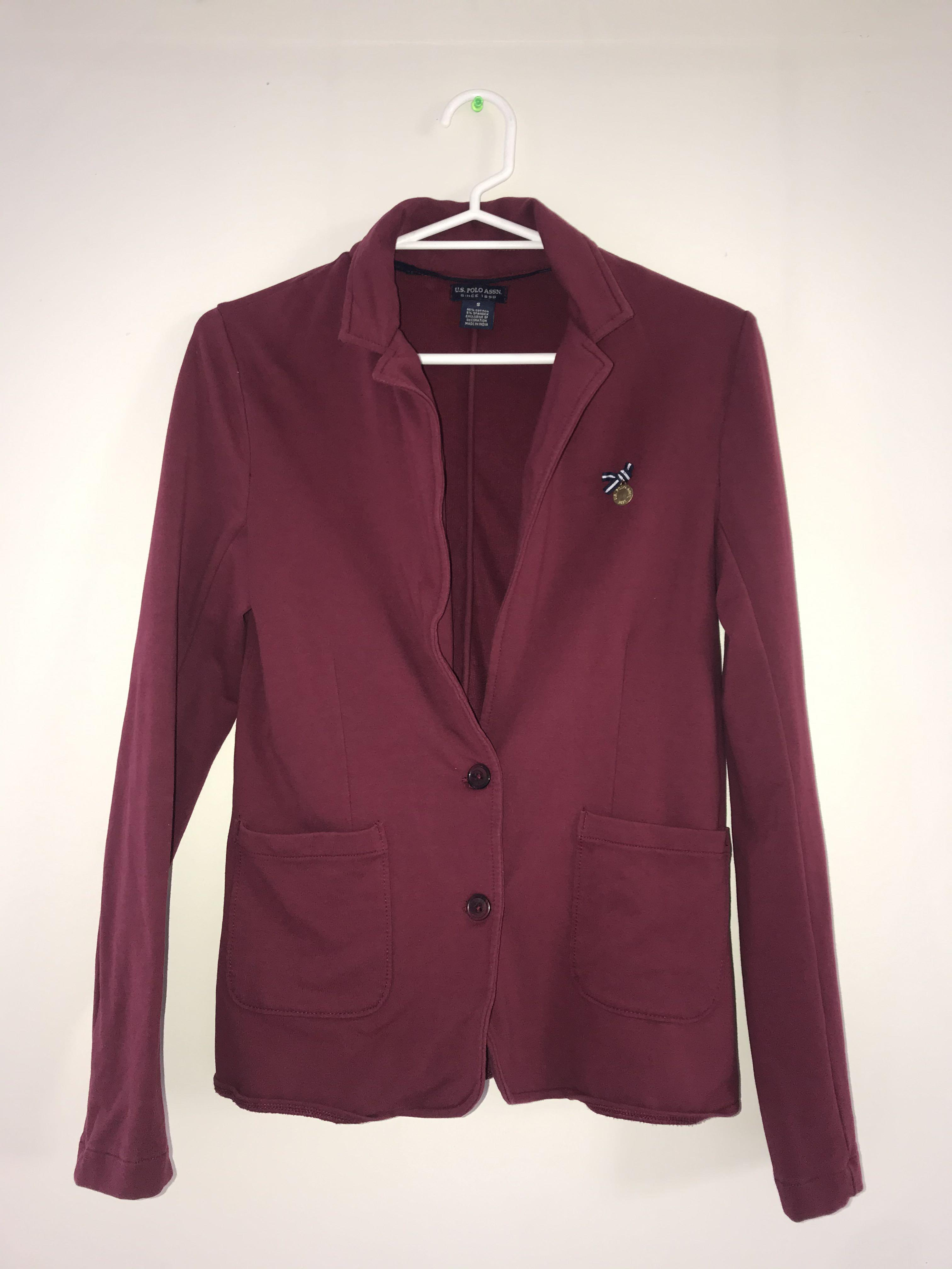 [U.S. POLO ASSN.] Maroon blazer
