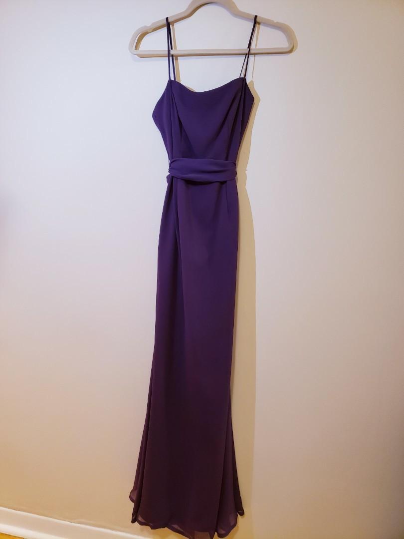 Vera Wang Purple Long Gown - Size 2