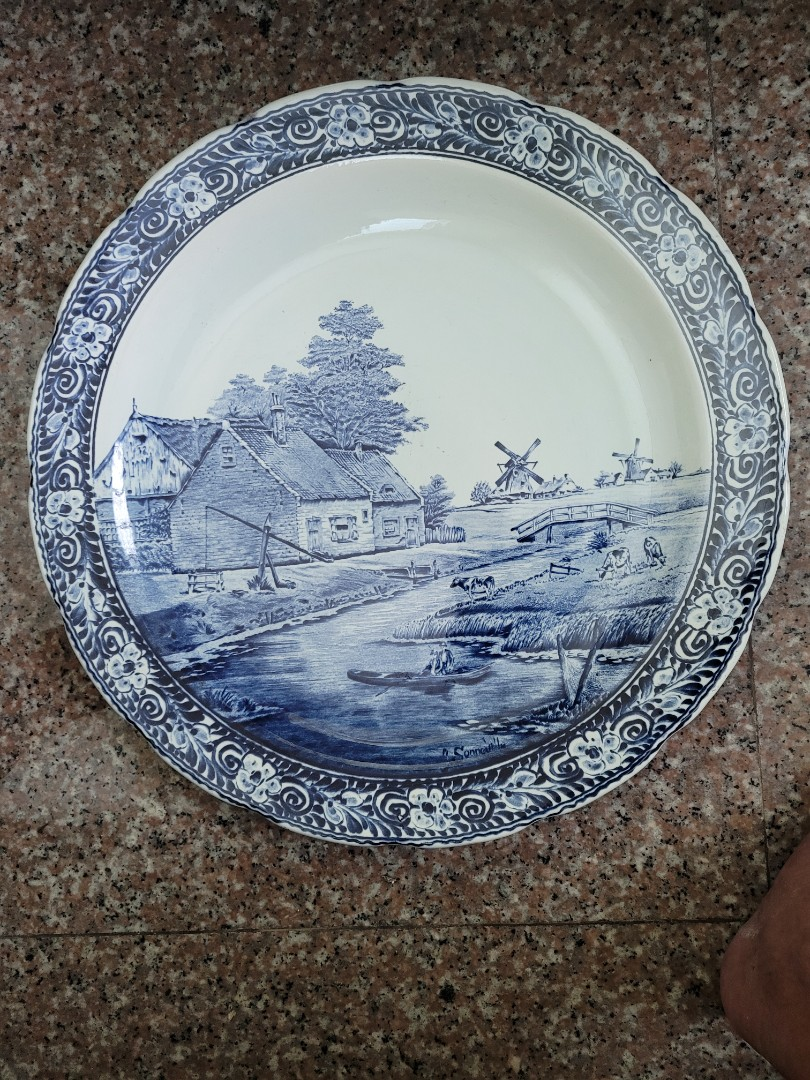 15 Dutch Blue And White Porcelain Display Plate Vintage Collectibles Vintage Collectibles On Carousell