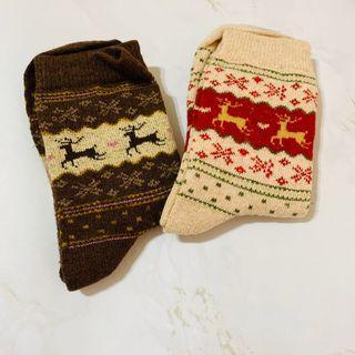 麋鹿雪花襪