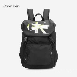 韓國代購 CK Jeans 新款男士翻蓋大容量雙肩包 耐用休閒雙肩包 休閒旅遊包 Calvin  Klein 韓國正版代購