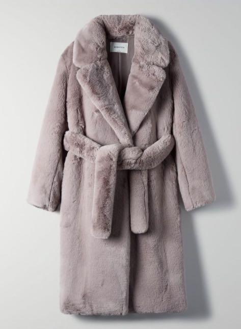 Aritzia Babaton Watt Faux Fur Coat
