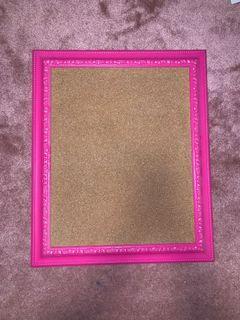 Cork board / wall board with pink border