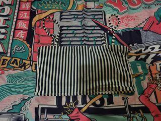 Cotton on stripes bikini top