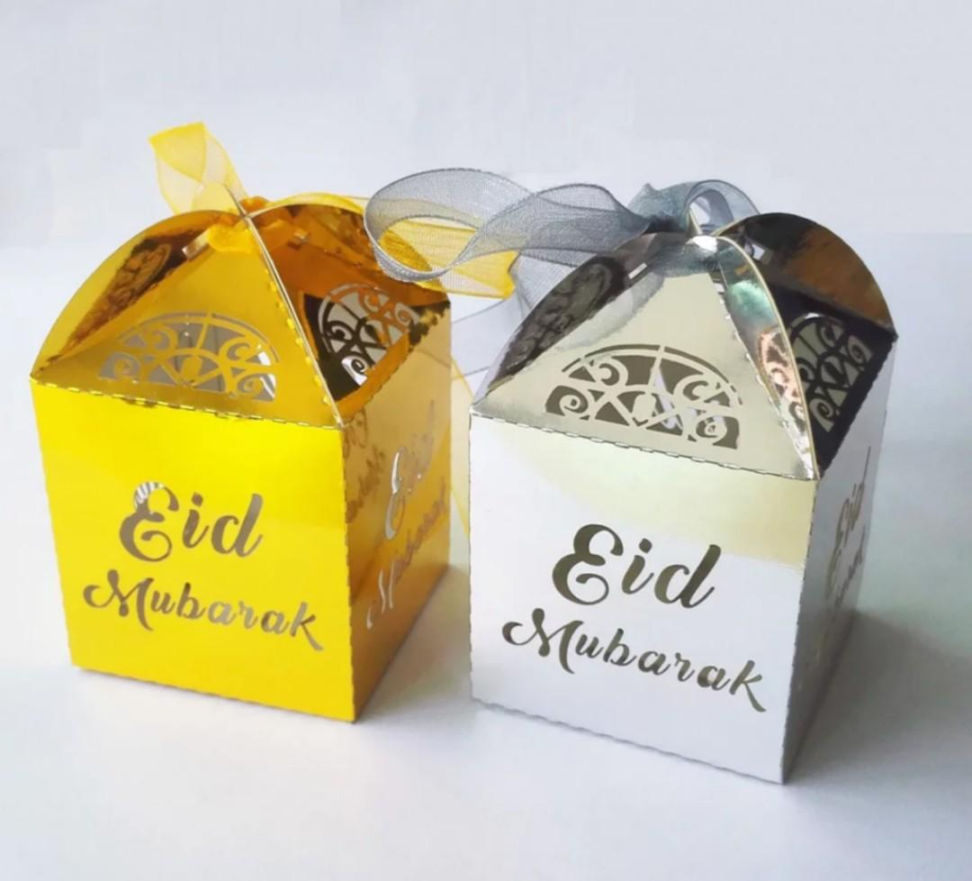 Eid Mubarak Treat Boxes with ribbons 2 for $1