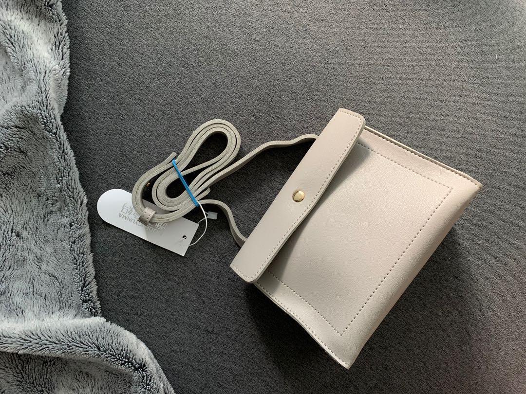 Gray small crossbody bag