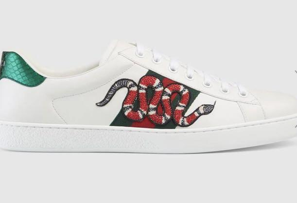 Gucci men's embroidered sneakers