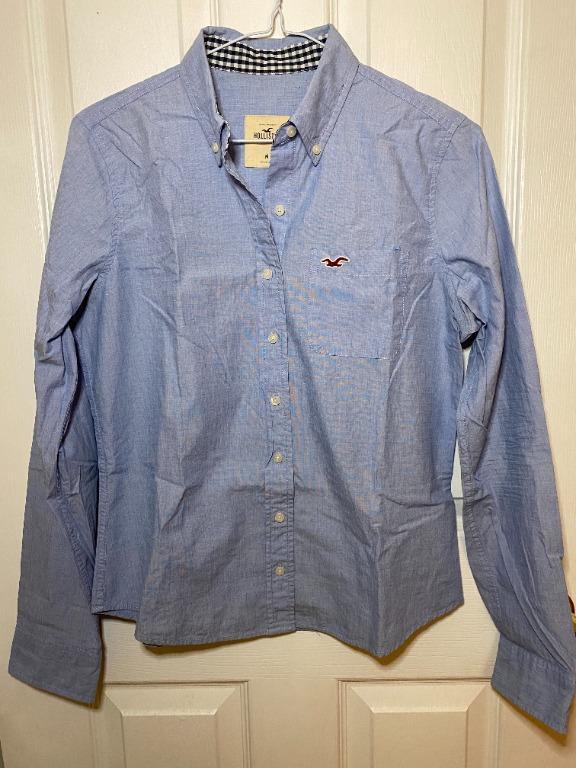Hollister Button Down Dress Shirt - Light Blue (size M)