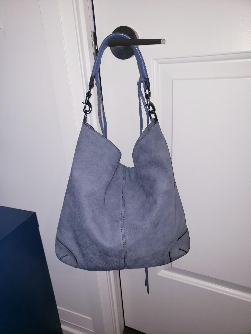Rebecca Minkoff Suede/Leather  Sky Blue Hobo Bag